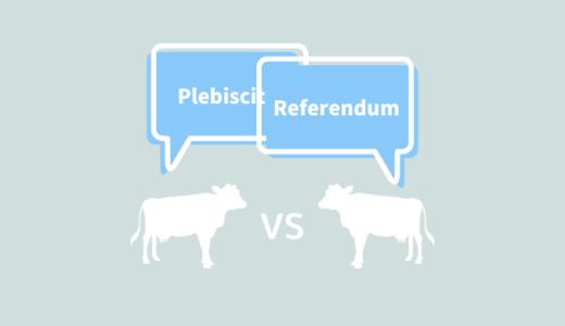 日本語訳は全く同じ「Referendum」と「Plebiscite」のニュアンスの違いとは?