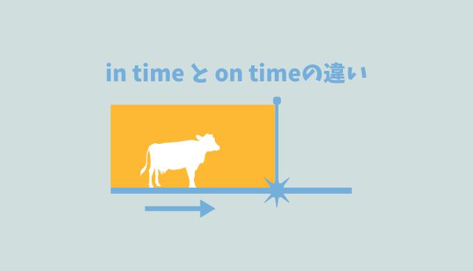 【イラストまるわかり】「in time」と「on time」の違いをイメージ図解してみた
