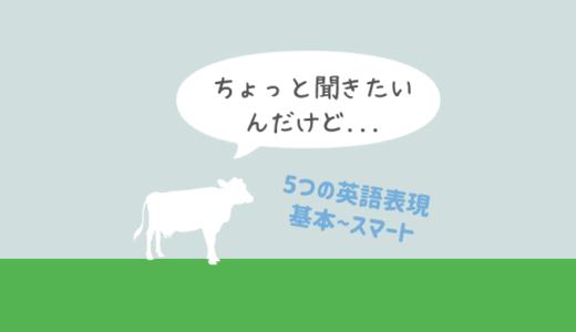 「ちょっと聞きたいんだけど…」は英語で何て言う?スタンダードからスマートな表現まで5種類を完全網羅!