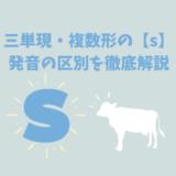 三単現・複数形の厄介者【s】の発音を見極めるシンプルなルール
