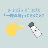 「a grain of salt(一粒の塩)」のもう一つの隠れた意味とは?